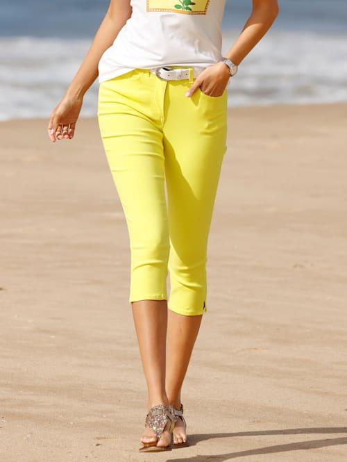 Capri-jeans van elastisch materiaal