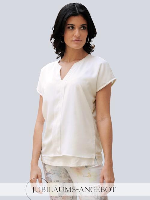 Shirt im angesagten Materialmix