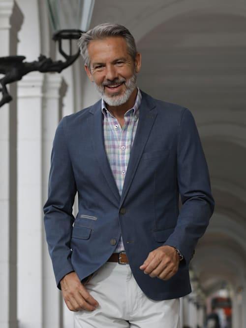 Džínsové sako v ľahkej letnej kvalite