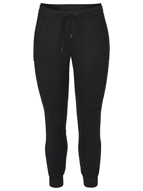 Hose mit unifarbenem Stoff und knöchellangen Beinen