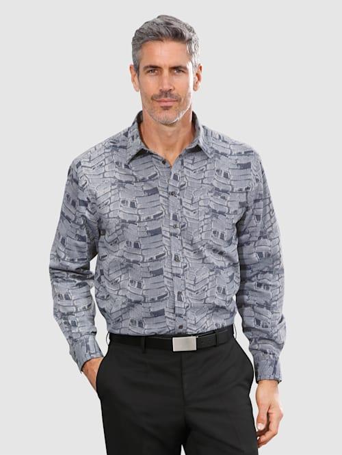 Overhemd met jacquardpatroon