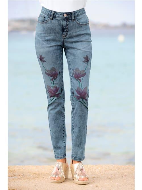 Strandhose mit Blumenmotiv