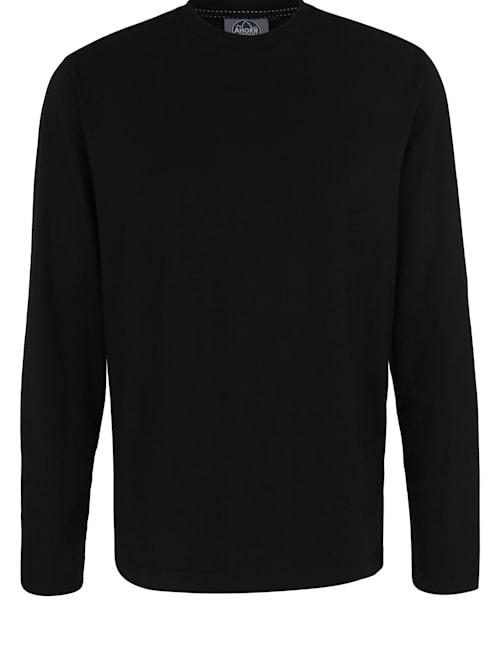 Langarmshirt mit modernem Rundhalsausschnitt