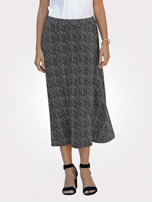 Jersey skirt in a playful spot print