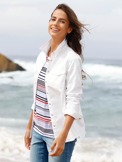 Jeansoverhemd met drukknopen