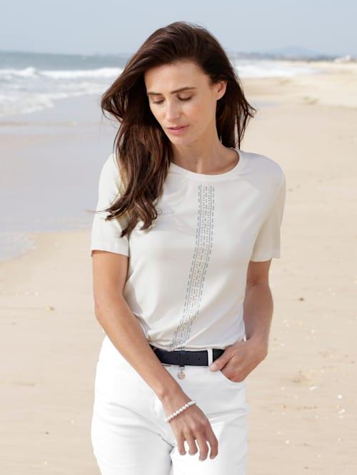 T-shirt avec strass appliqués