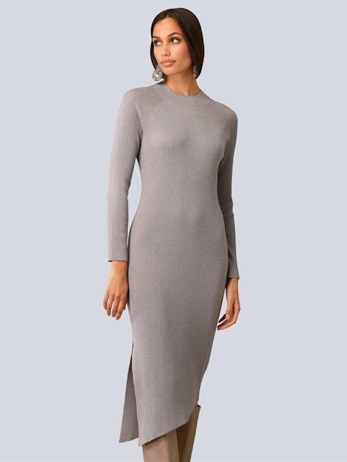 Kleid allover in Rippenstruktur