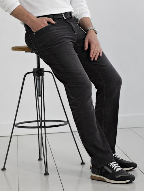 Joggpant i mjukt tyg som ser ut som jeans