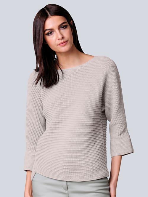 Pullover in Querrippe