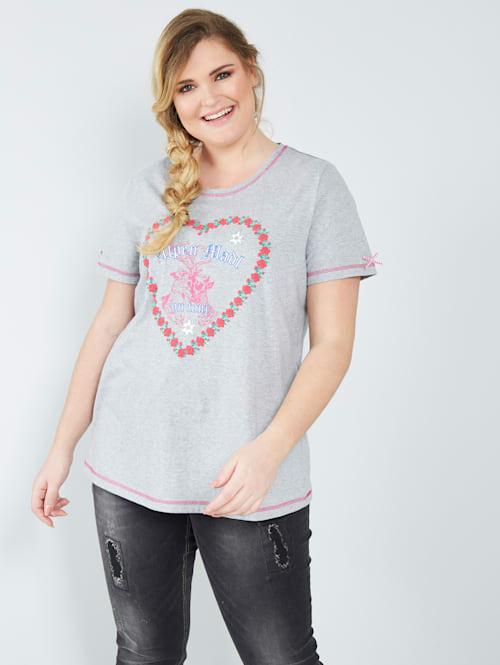 Shirt mit Herzdruck