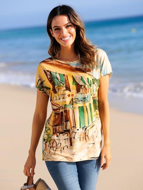 Strandshirt mit Häusermotiv