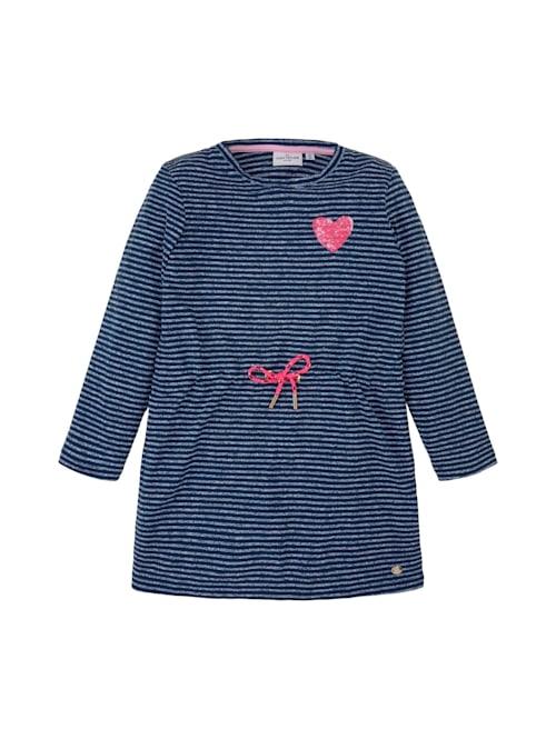 Gestreiftes Jerseykleid mit Paillettenmotiv