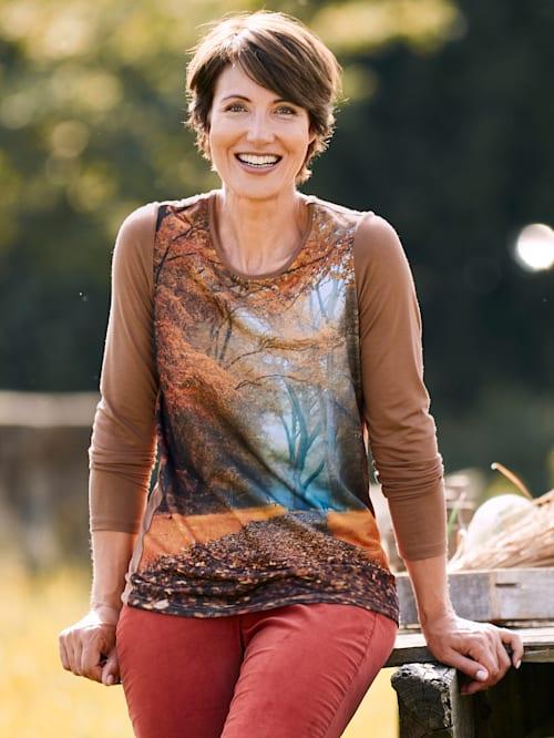 Shirt met herfstmotief voor