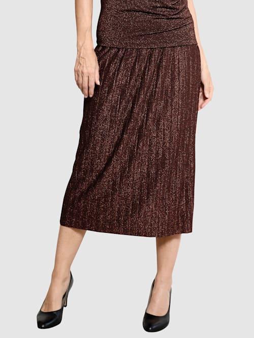 Plisovaná sukňa s metalickou priadzou