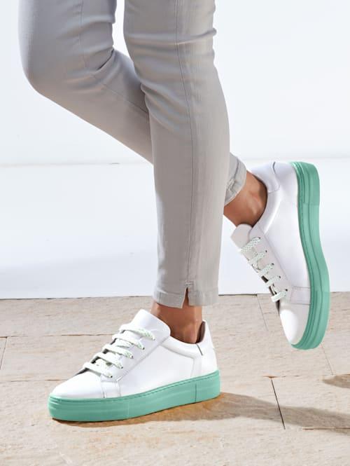 Sneakers à plateau avec semelle de marche à plateau de coloris contrastant