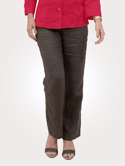 Pantalon en lin à ceinture extensible