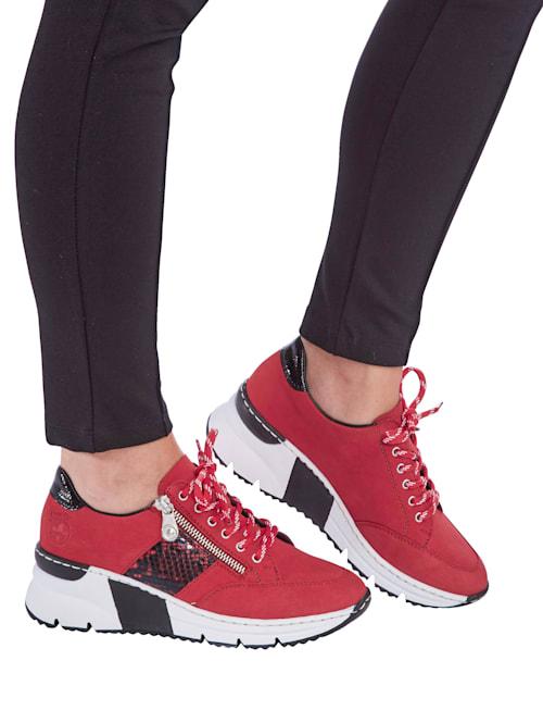 Sneakers d'aspect cuir nubuck