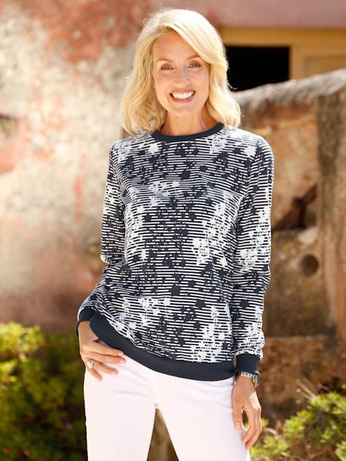 Sweatshirt med trykt mønster