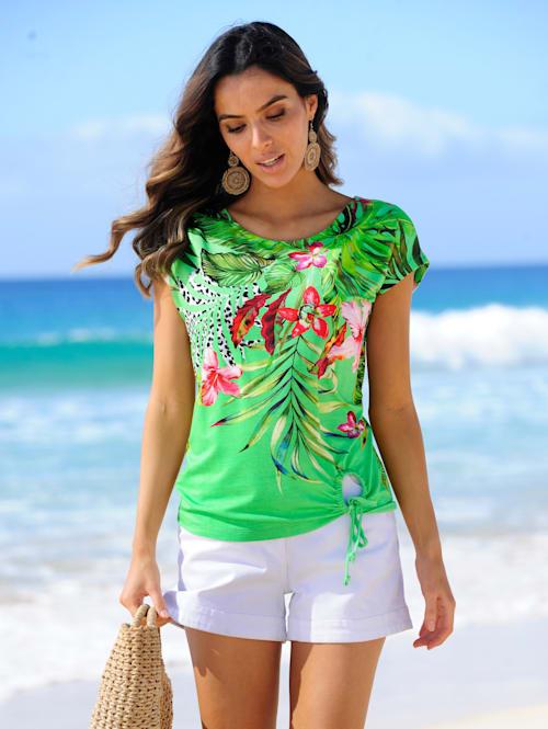 Strandshirt met sierstrikje
