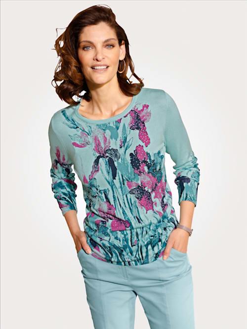 Pullover im floralen Druckdessin