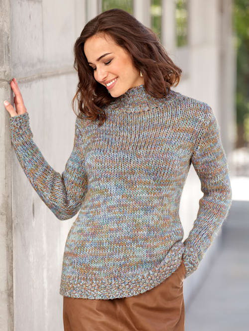 Pullover aus bunten Garnen
