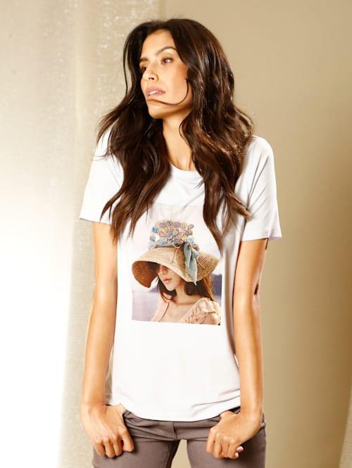 Shirt mit Druck und Paillettenzier