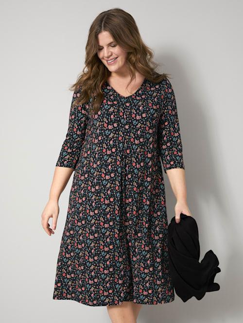 Jersey jurk met bloemenpatroon