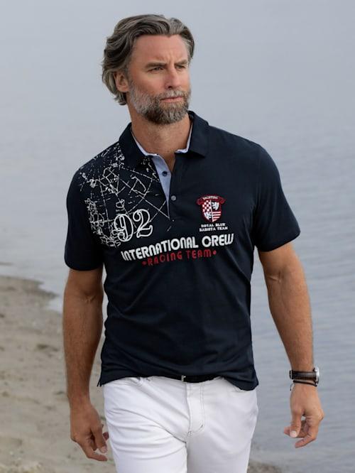 Polo à détails d'inspiration maritime