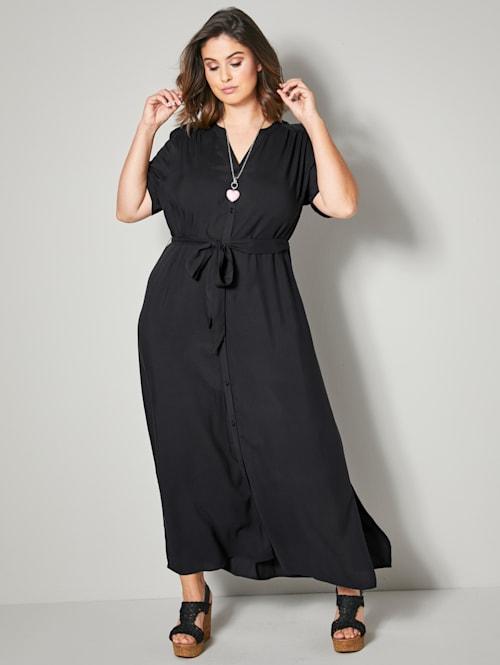 Maxi-jurk met afneembare bindceintuur
