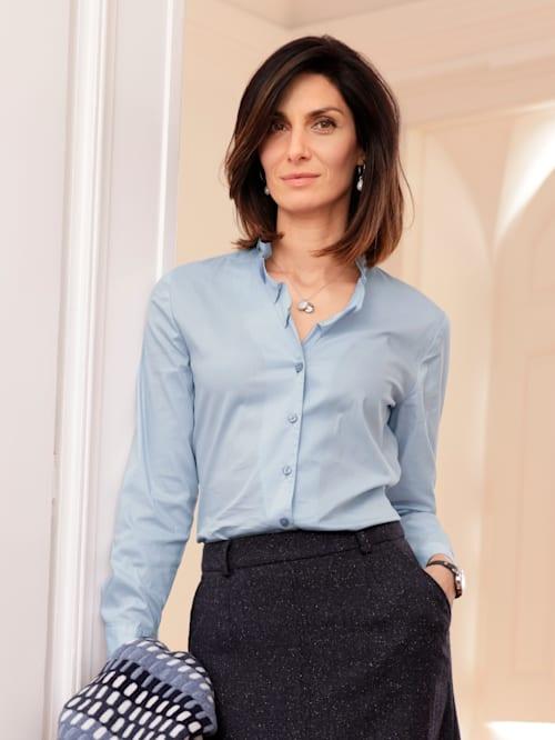 Bluse mit Faltendekoration