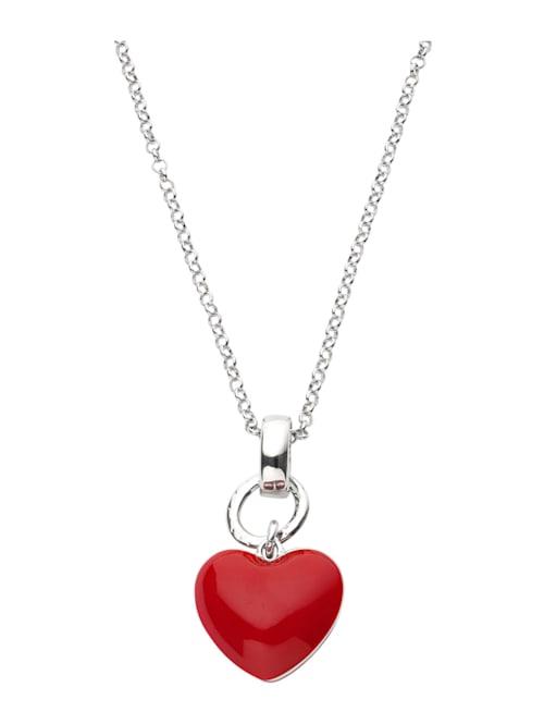 Halsband med hjärtformat hänge