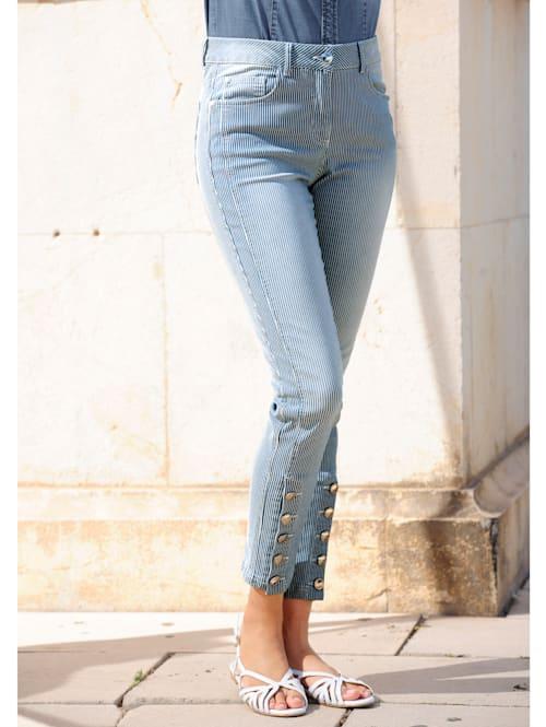 Jeans i randigt