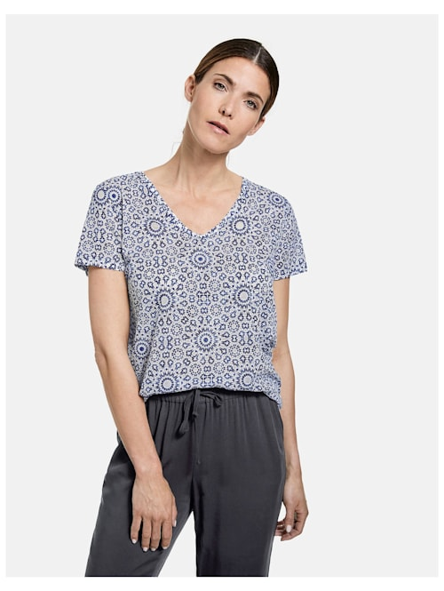 Shirt mit Ausbrennermuster