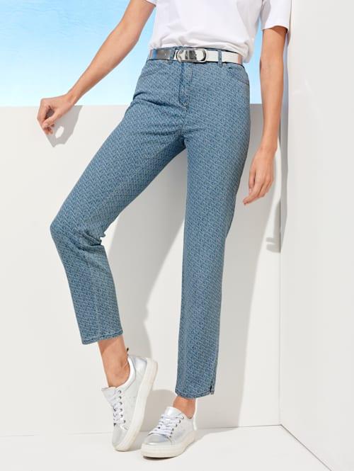 Jeans met minimaldessin