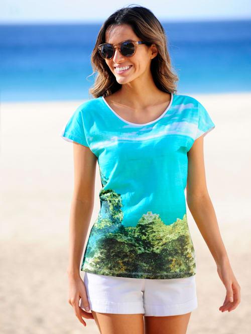 Strandshirt mit maritimen Fotodruck