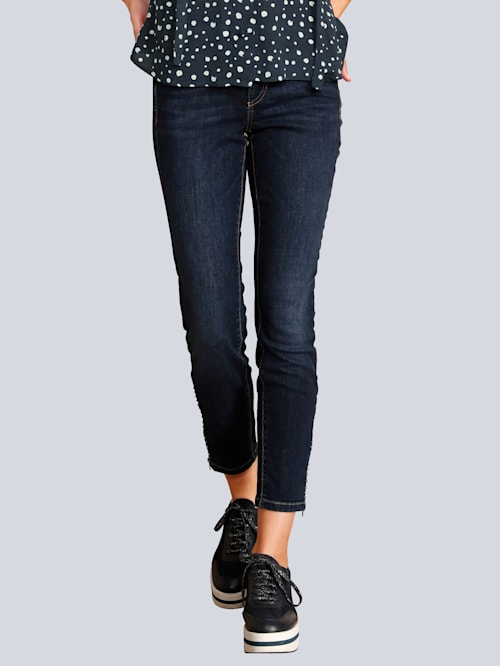 Jeans mit Zipper am Saum