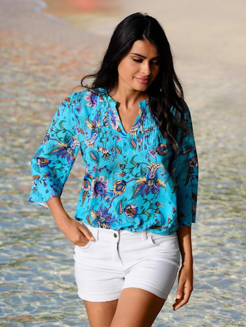 Strandtunika in sommerlichen Farben