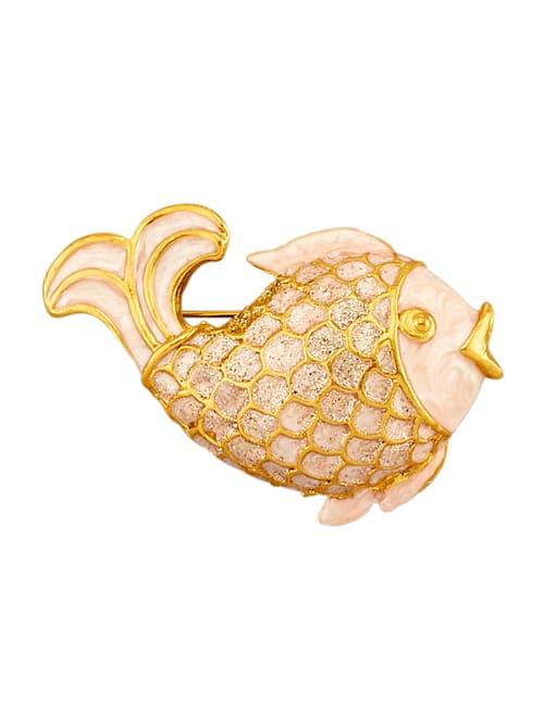 Fisch-Brosche vergoldet