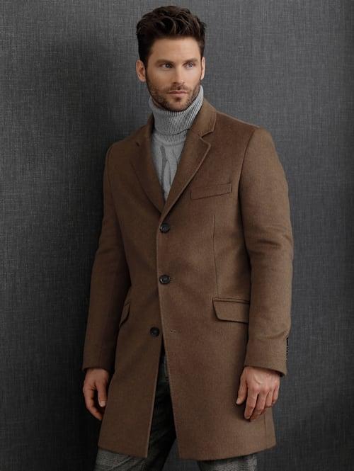 Vlnený kabát s kašmírom