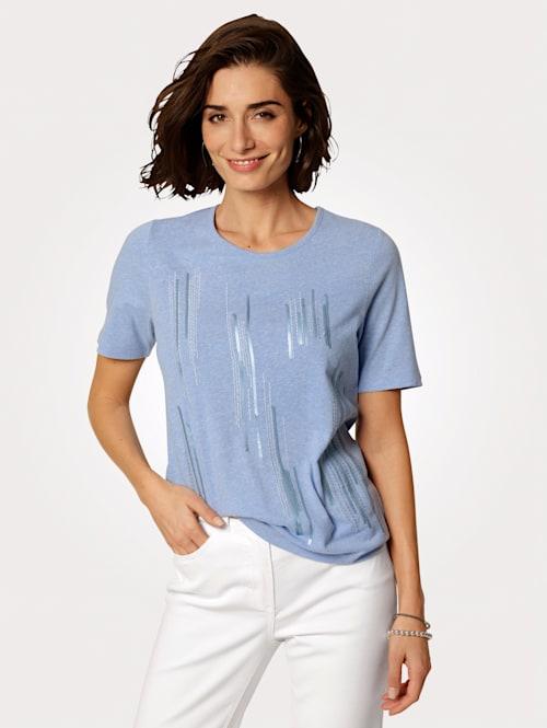 Shirt mit platzierter Stickerei in Streifenoptik