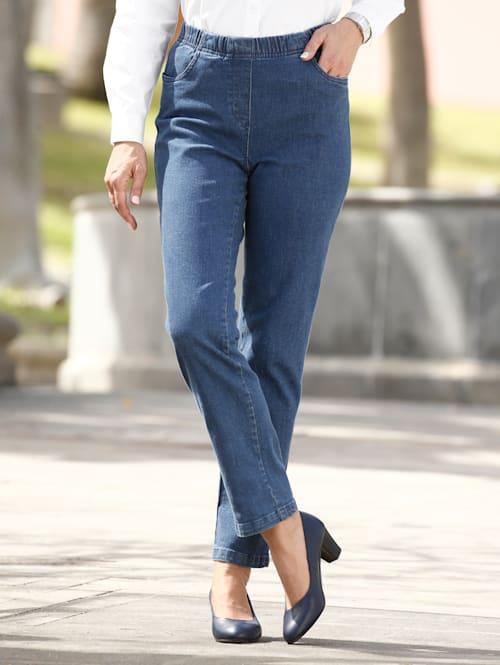 Jeans in bequemer Schlupfform