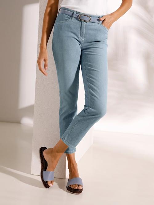 Jeans im schmalen Streifendessin
