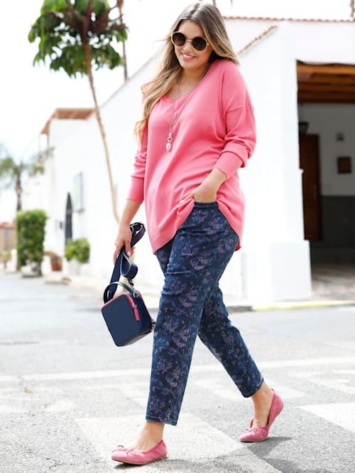 Jeans allover floral bedruckt