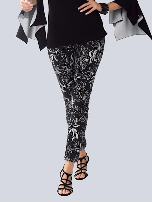 Kalhoty s květinovým potiskem