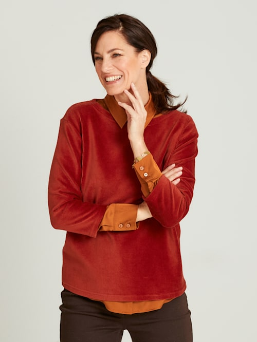 Jumper made from soft corduroy