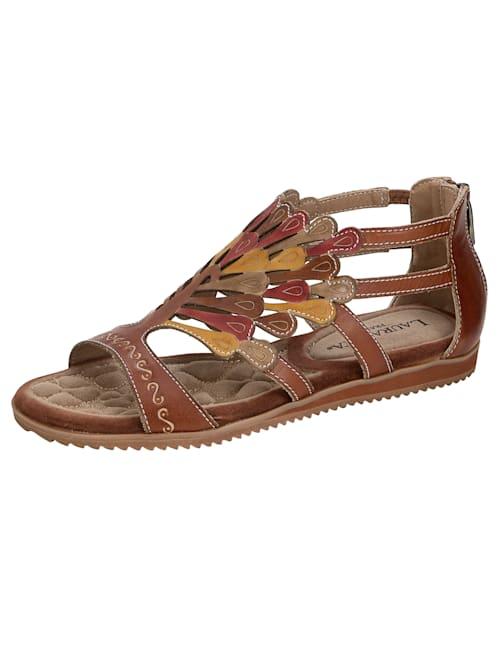 Sandalette in sommerlicher Farbgebung