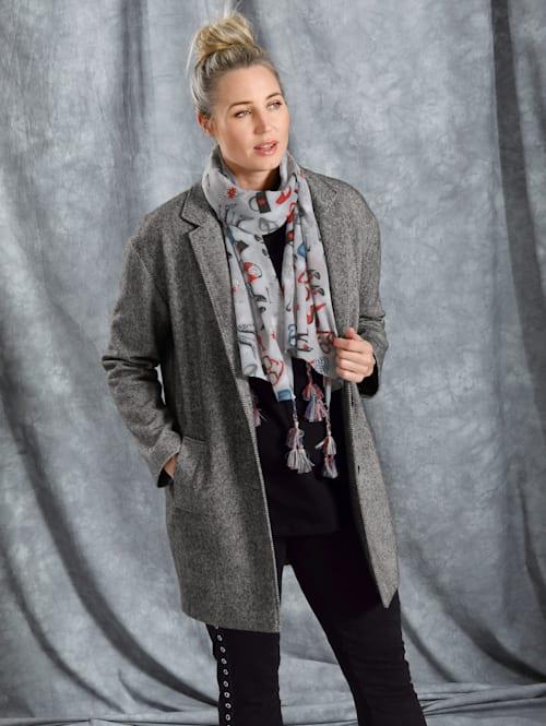 Mantel mit Streifenmuster