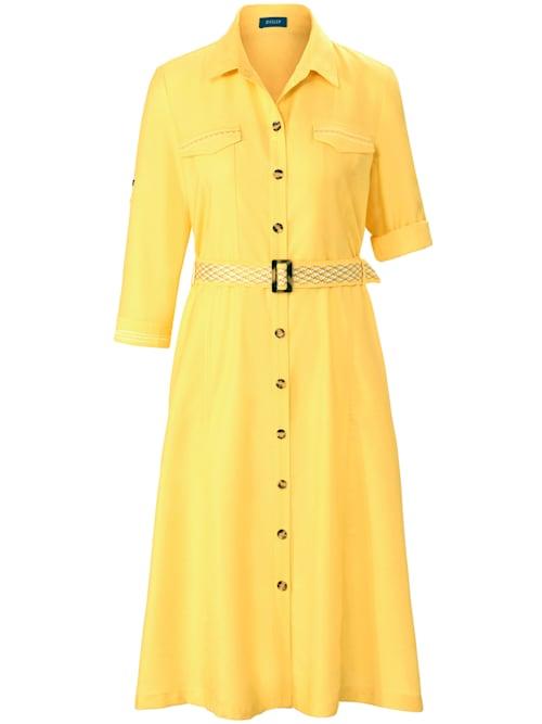 Unifarbenes Safari-Kleid