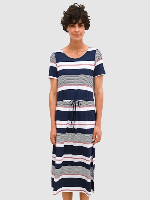 Jersey jurk met streeppatroon