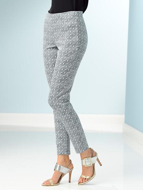Nohavice s modernou celoplošnou potlačou